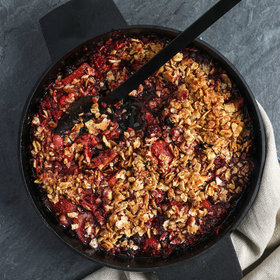 mkgalleryamp; Wine: Mixed Berry Crisp with Matzoh Streusel