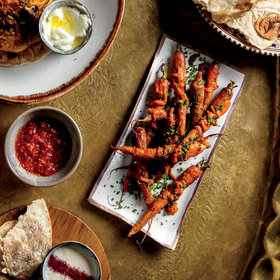 mkgalleryamp; Wine: Grilled Carrots with Lemon and Harissa