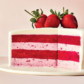 Food & Wine: Strawberries-and-Cream Gelato Cake