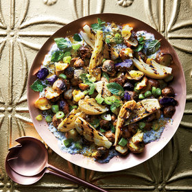 Food & Wine: Cracked New Potatoes with Fennel Raita