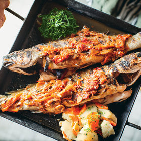 Food & Wine: Grilled Whole Fish with Tomato-Fennel Sauce