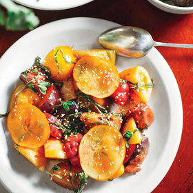 Food & Wine: Heirloom Tomato and Plum Salad