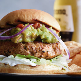 Food & Wine: Cheese-Belly Chicken Burgers with Sour Cream and Guacamole