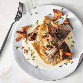Food & Wine: Pan-Seared Trout with Green Garlic and Crunchy Chanterelles