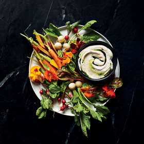 mkgalleryamp; Wine: Crudités and Fermented Soybean Dip