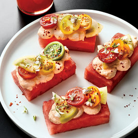 Food & Wine: Tomato and Watermelon Bites
