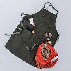 mkgalleryamp; Wine: This Apron Was Specifically Designed for Oyster Shucking