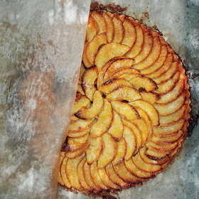 mkgalleryamp; Wine: Apple Tart with Apricot Glaze