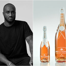 mkgalleryamp; Wine: Virgil Abloh Collaborates With Moët & Chandon on Limited-Edition Rosé Champagne Bottles