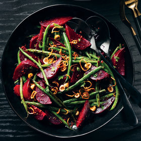mkgalleryamp; Wine: Roasted Beets and Charred Green Beans
