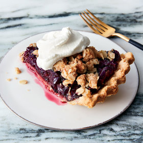 mkgalleryamp; Wine: Dark-Cherry Crumble Pie