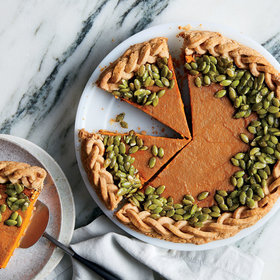 mkgalleryamp; Wine: Gingered Pumpkin Pie with Candied Pepitas