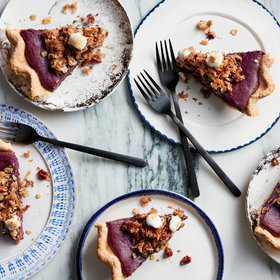 mkgalleryamp; Wine: Purple Sweet Potato Pie with Coconut and Five-Spice