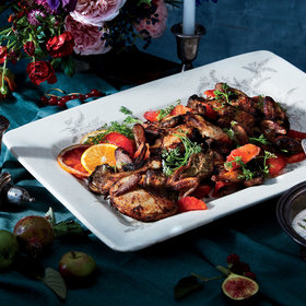 Food & Wine: Buttermilk-Marinated Quail with Herbed Raita and Blood Oranges
