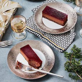 mkgalleryamp; Wine: Black Forest Mousse Cake with Cherry-Chile-Pomegranate Glaze