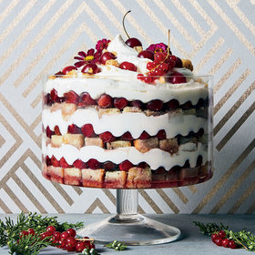 Food & Wine: Sour Cherry–Cheesecake Trifle with Black Pepper and Saba