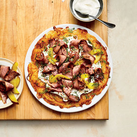 mkgalleryamp; Wine: Gail Simmons Shows How to Make Daniel Humm's Pastrami-Topped Rösti