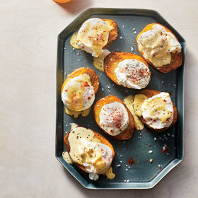 Food & Wine: Potatoes Benedict with Make-Ahead Poached Eggs