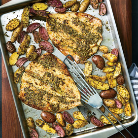 Food & Wine: Herbes de Provence–Crusted Branzino and Fingerlings