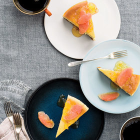 mkgalleryamp; Wine: New York–Style Cheesecake with Pink Grapefruit and Marmalade