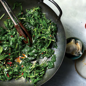 mkgalleryamp; Wine: Baby Kale Stir-Fried with Oyster Sauce