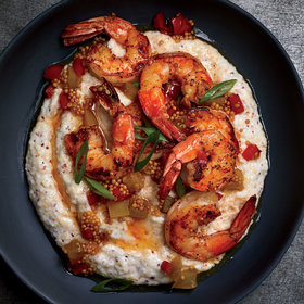 Food & Wine: Shrimp and Grits with Mustard Seed Chowchow