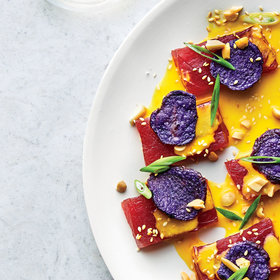 Food & Wine: Tuna Tiradito with Ají Amarillo Leche de Tigre