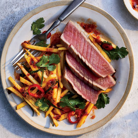 Food & Wine: Grilled Tuna with Chile-Lime Mango Salad