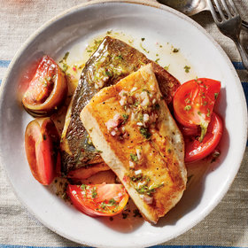 Food & Wine: Seared Mackerel with Marinated Tomatoes