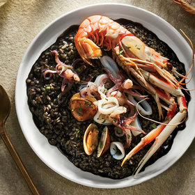 Food & Wine: Croatian Langoustine and Squid Ink Risotto