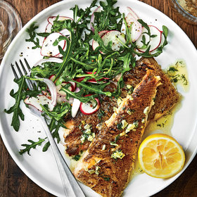 Food & Wine: Grilled Whole Flatfish with Lemon-Herb Butter