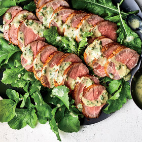 Food & Wine: Spice-Crusted Beef Tenderloin with Caper Vinaigrette