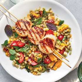 Food & Wine: Grilled Scallops with Miso-Corn Salad