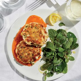 Food & Wine: Crispy Crab Cakes with Tomato Butter