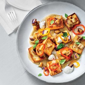 mkgalleryamp; Wine: Ricotta Gnocchi with Eggplant and Peppers