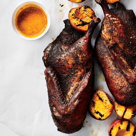 Food & Wine: Jerk-Smoked Duck with Peach Barbecue Sauce
