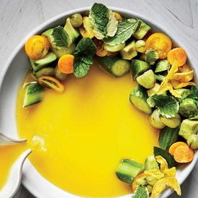 mkgalleryamp; Wine: Cucumber-Avocado Salad with Gooseberry Piri Piri Soup