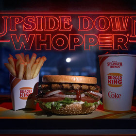 Food & Wine: Burger King Flips Its Whoppers 'Upside Down' for 'Stranger Things' Season Three