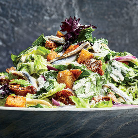 mkgalleryamp; Wine: Vietnamese Caesar Salad with Anchovy Croutons