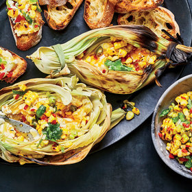 Food & Wine: How To Make Corn Husk–Grilled Goat Cheese For The Grill