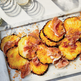 Food & Wine: Grilled Pineapples with Barbecue-Spiced Breadcrumbs and Country Ham