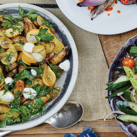 Food & Wine: Bacony Fingerling Potato and Spring Onion Salad