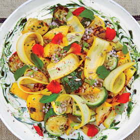 Food & Wine: Herbed Summer Squash with Goat Cheese Cream