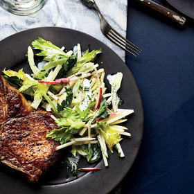 Food & Wine: Pork Chops with Three-Apple Slaw