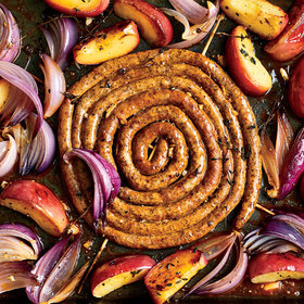Food & Wine: Roasted Merguez Sausage with Apples and Onions
