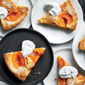 Food & Wine: Apricot Kuchen with Labneh Whipped Cream
