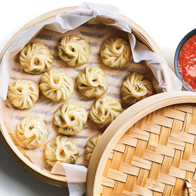 Food & Wine: Momos with Red Chile Chutney