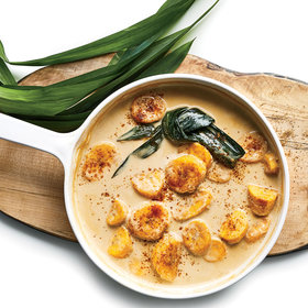 Food & Wine: Simmered Plantains with Coconut Milk and Palm Sugar