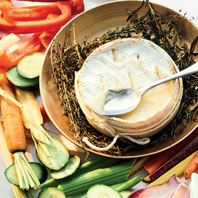 Food & Wine: Baked Cheese with Herbs and Crudités