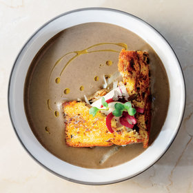 Food & Wine: Lentil Velouté with Cabbage and Toasted Brioche